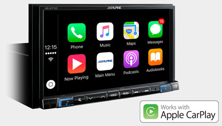Radi s Apple CarPlay- INE-W710DC