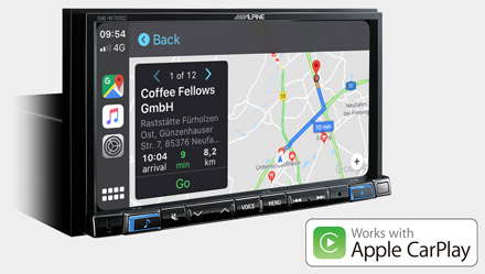 Online Navigacija s Apple CarPlay - INE-W720D