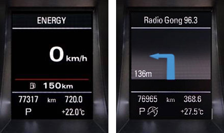 Audi A4 - X703D-A4: Driver Information Display