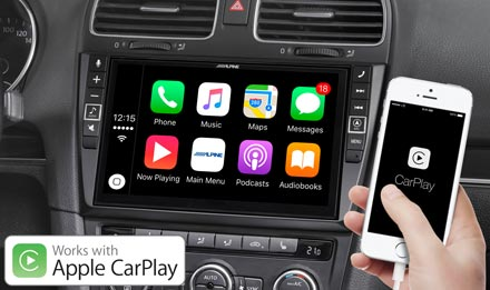 Golf 6 - Radi s Apple CarPlay - X902D-G6